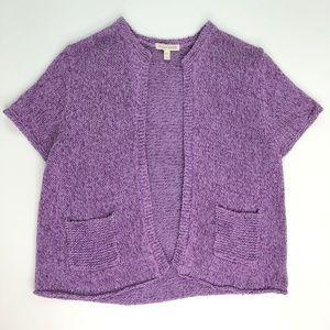 Eileen Fisher Silk Linen Cardigan Short Sleeve